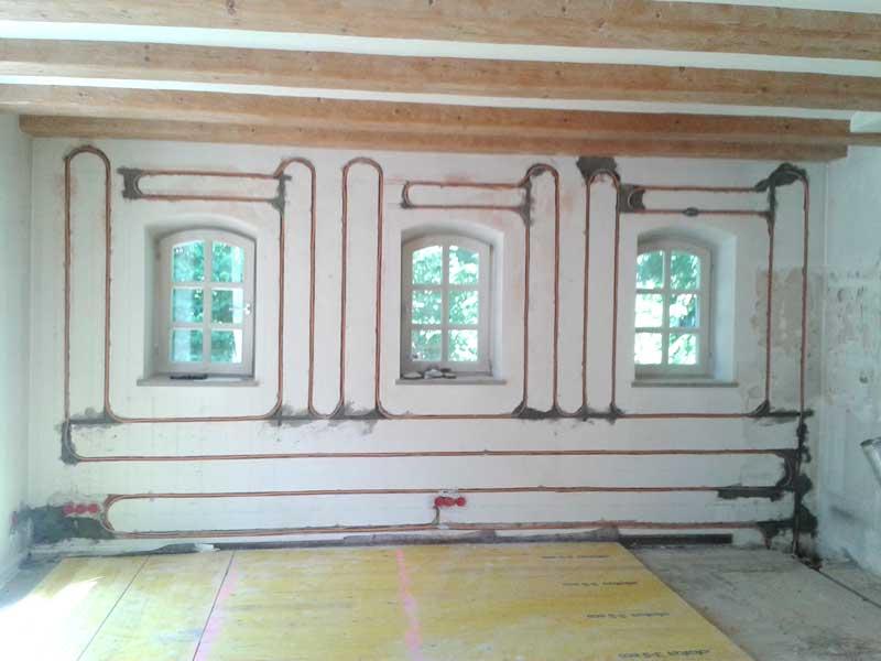 Wandheizung in denkmalgeschütztem Wohnhaus