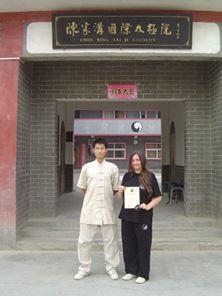 mit Chen Hui Wu und dem 4.-Duan-Zertifikat 2011 in Chenjiagou