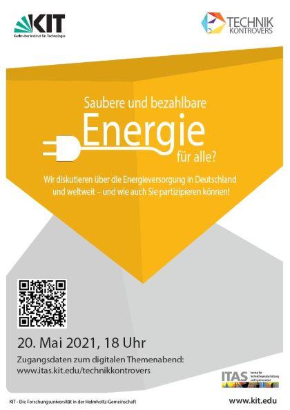 technik.kontrovers – Saubere und bezahlbare Energie weltweit und bis vor unserer Haustür
