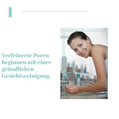 Gesichtsreinigung für verfeinerte Poren