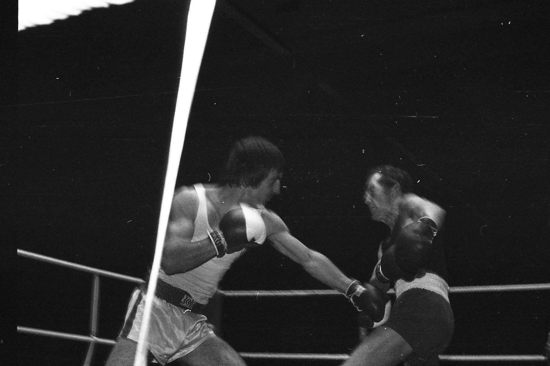 v.l.  B.Carra,BC Speyer,  Rudi Moos,Finale Südd.Meistersch. Hanau 1978