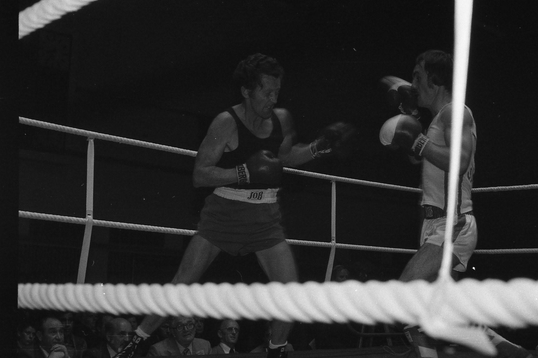 v.l. R.Moos, B.Carra,BC Speyer, Finale Südd.Meistersch. Hanau 1978