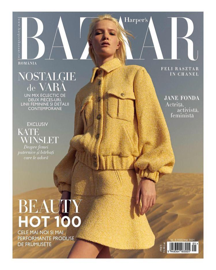 Top Model FELI on the Cover for HARPER´S BAZAAR