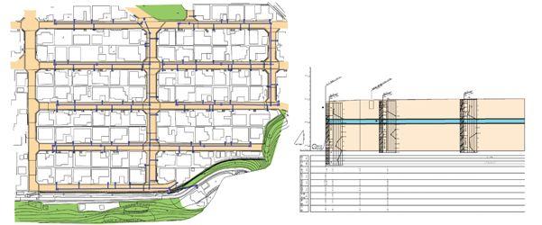 下水道函渠の設計図面