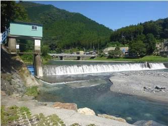 河川用水施設の写真
