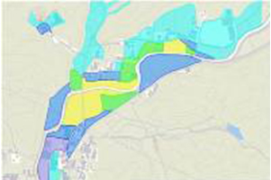 土石流発生時のハザードマップ