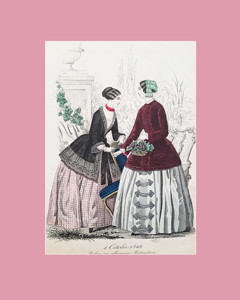 German fashion plate, 1849