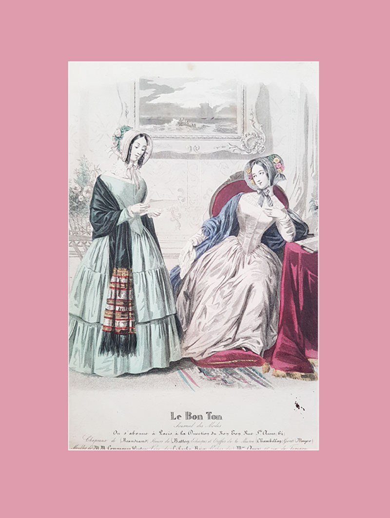 French fashion plate, 1844