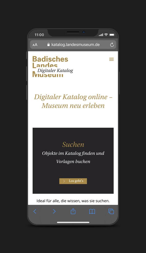 User Experience und User Interface des Digitalen Katalogs des Badischen Landesmuseums in Karlsruhe.