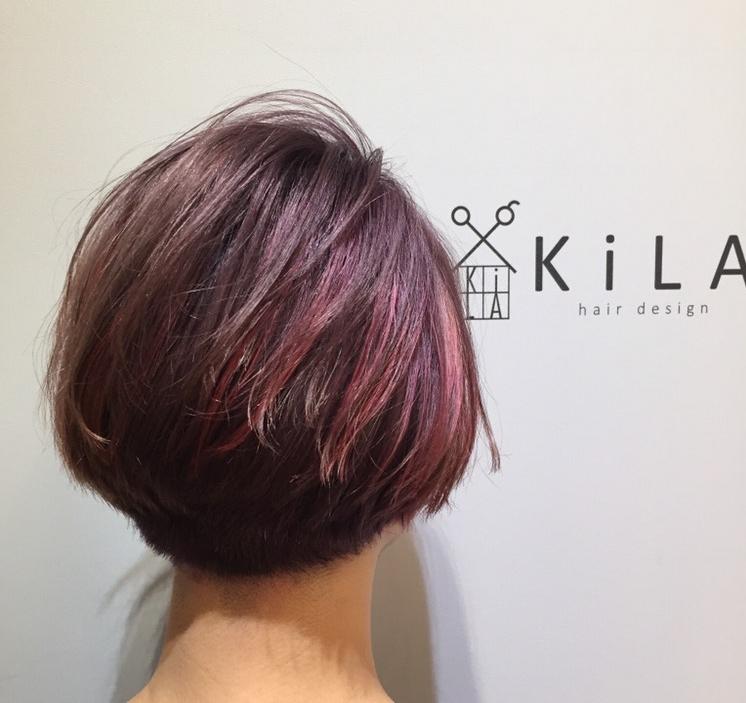 紫×ピンク→ムラピ♪ グレーを混ぜることで鮮やかすぎない感じがポイント