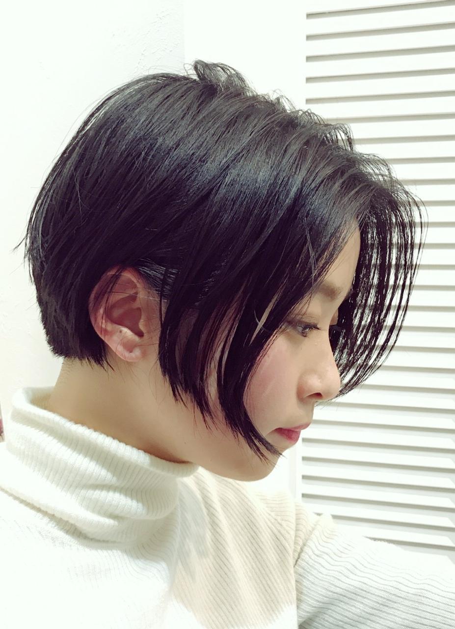 ソフトエッジの刈上げボブ サイドの髪の落ちる位置は絶妙なさりげなさで☆彡