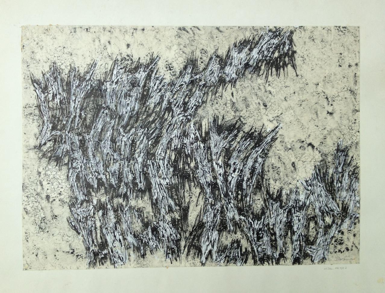 Ohne Titel, Mischtechnik auf Papier, 45x 62 cm, 1961/1962 (#765)