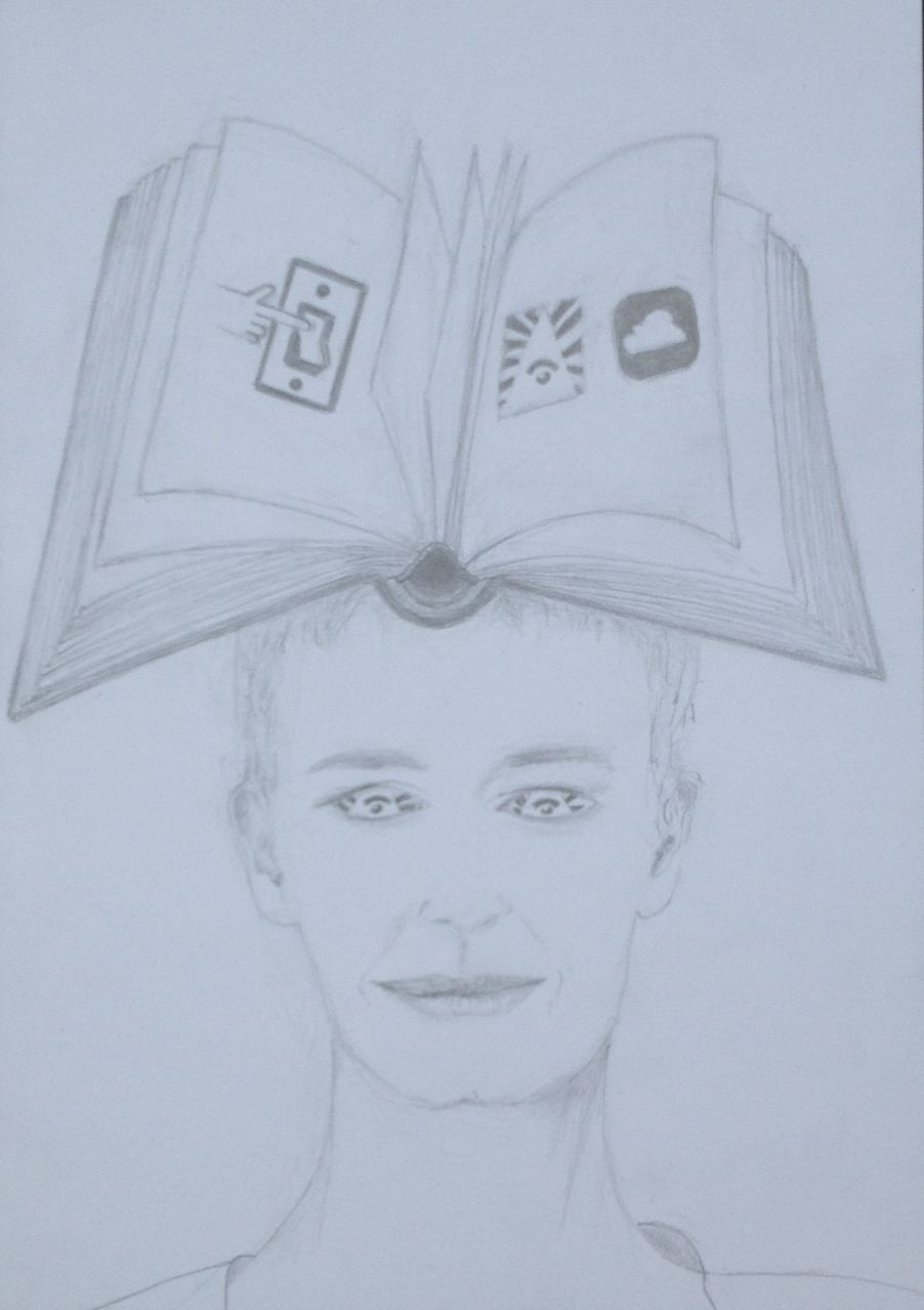 """""""Piktogramm mit WLAN-Augen"""", 2017, Zeichnung, 21 x 15 cm (#923)"""