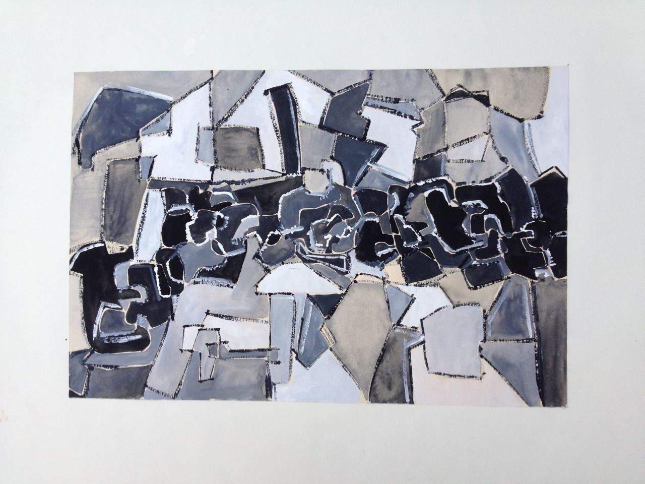 Studie II, Gouache, 24 x 35 cm, 1960 (#779)