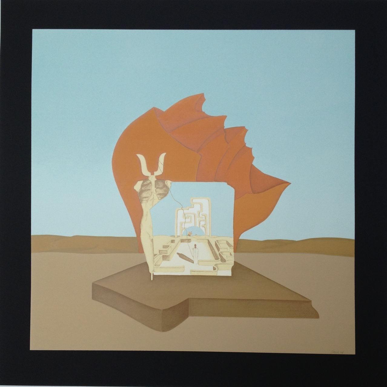 Minotauros gegängelt, Serigraphie, 60 x 60 cm, 1978 (#231)