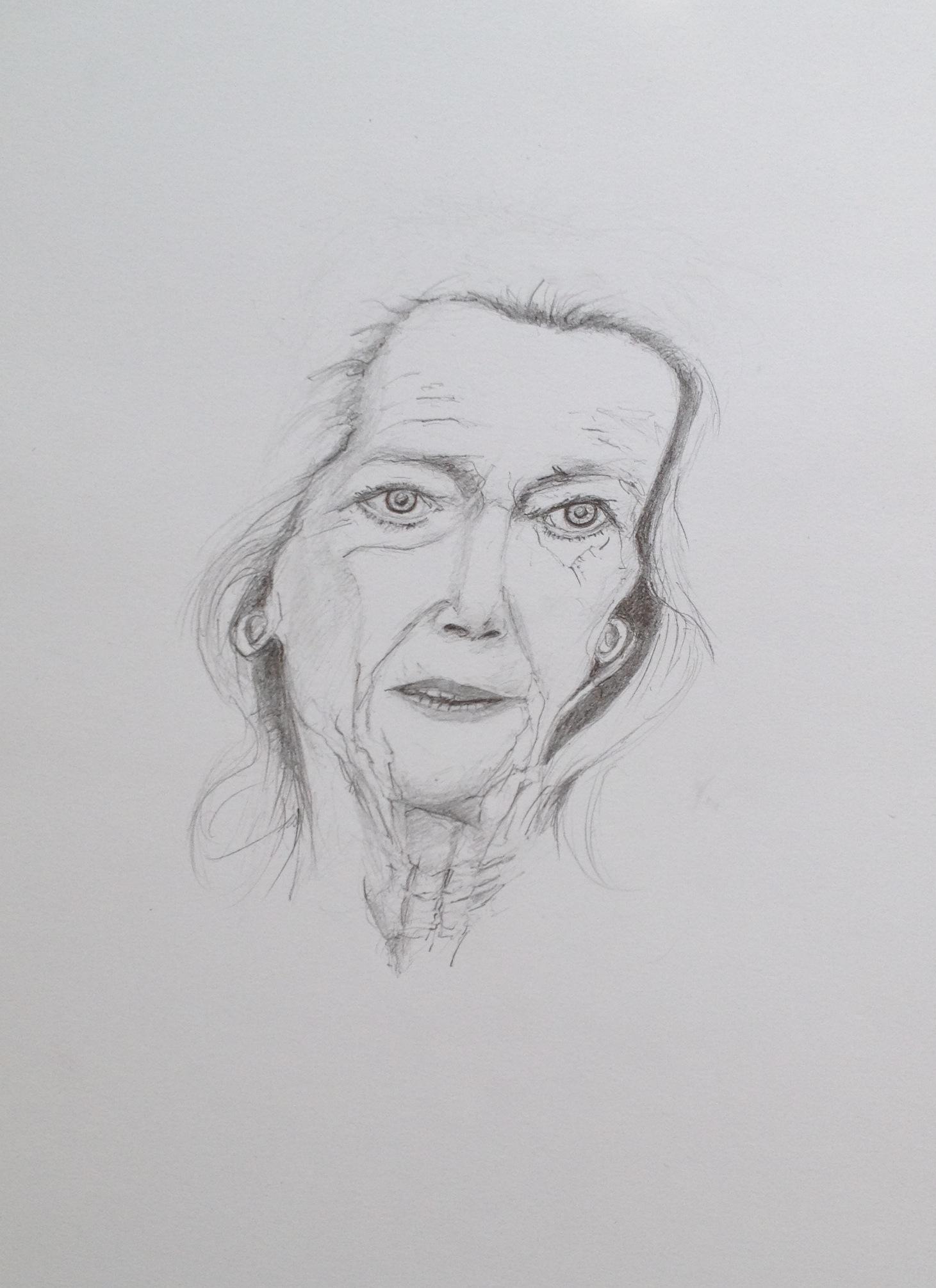Gertrud Höhler, 2018, Zeichnung (#966)