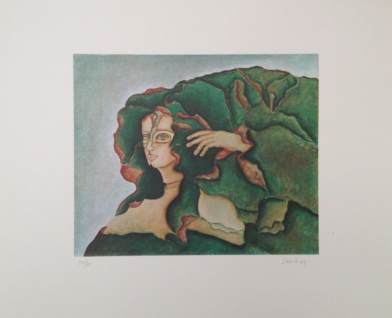 Tropica, Serigraphie, 40 x 50 cm, 1979, Auflage: 60 Exemplare (#758)