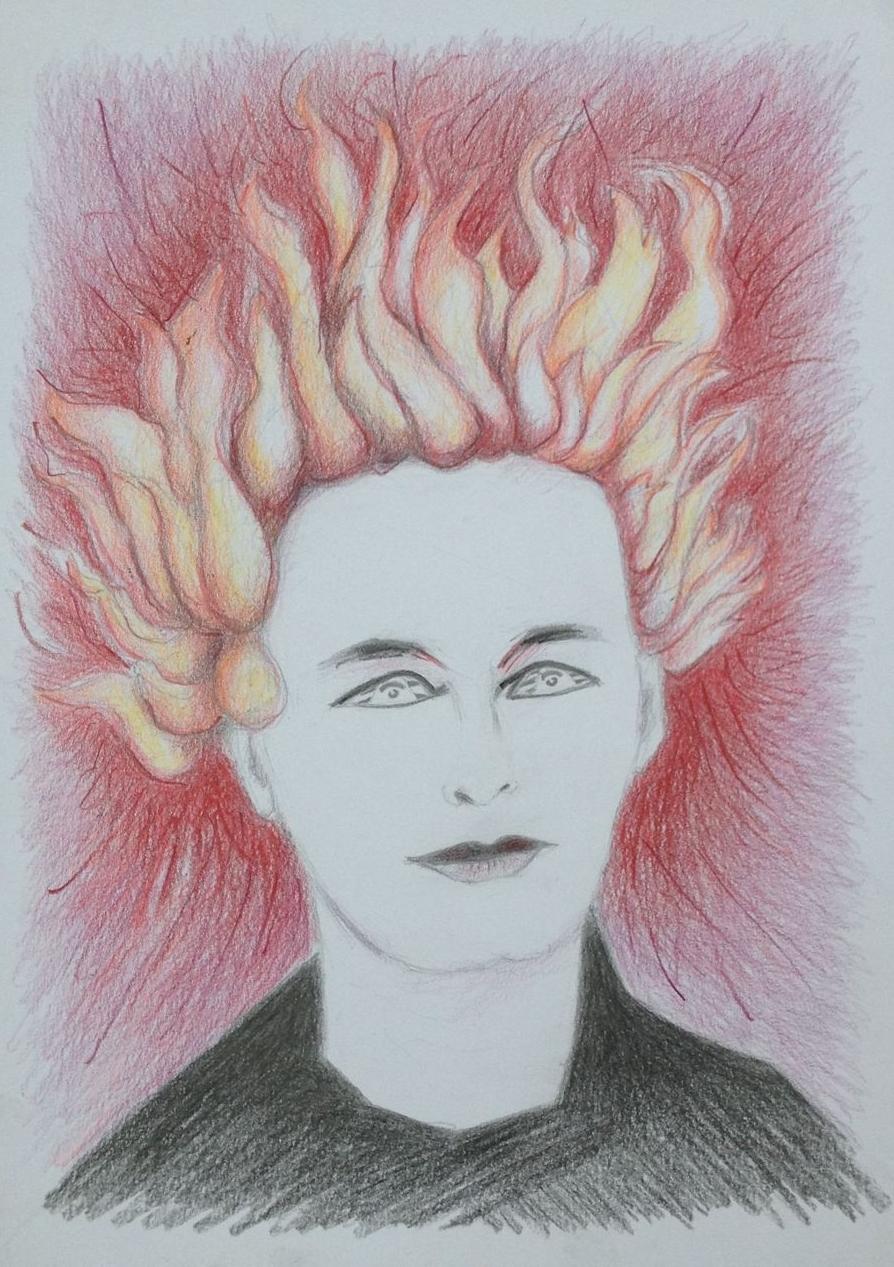 """""""Entflammt"""", 2017, Zeichnung, 21 x 15 cm (#925)"""