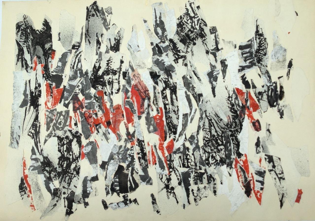 Ohne Titel, Décollage, 60 x 90 cm, 1961/1962 (#767)