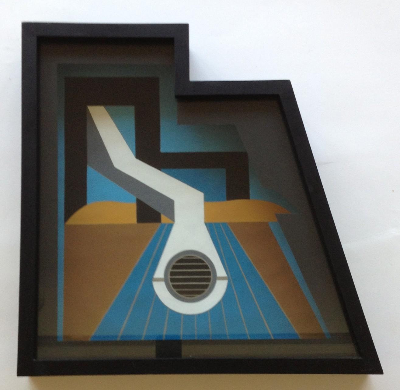 Luftröhre, Gouache, 40 x 40 x 7 cm, 1973 (#597)