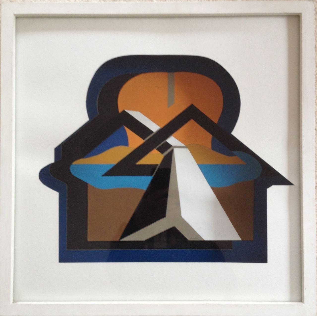 Raumschnitt, Gouache, Collage, 40 x 40 x 5 cm, 1972 (#592)