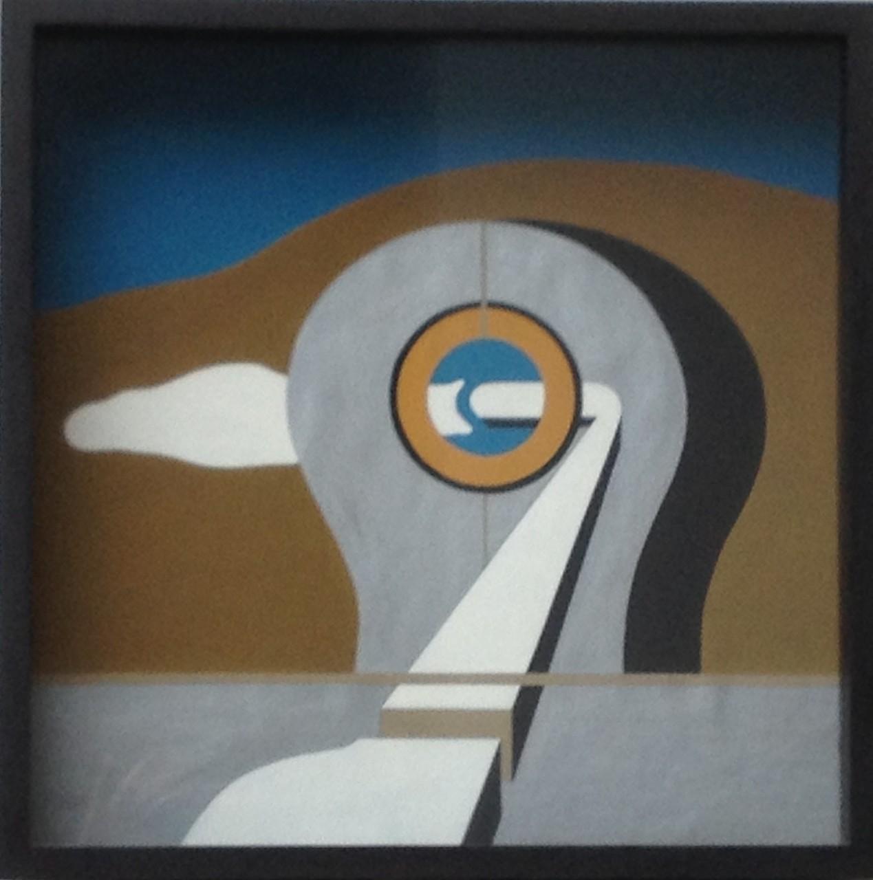 Fatamorgana, Gouache, 45 x 45 x 8 cm, 1973 (#598)