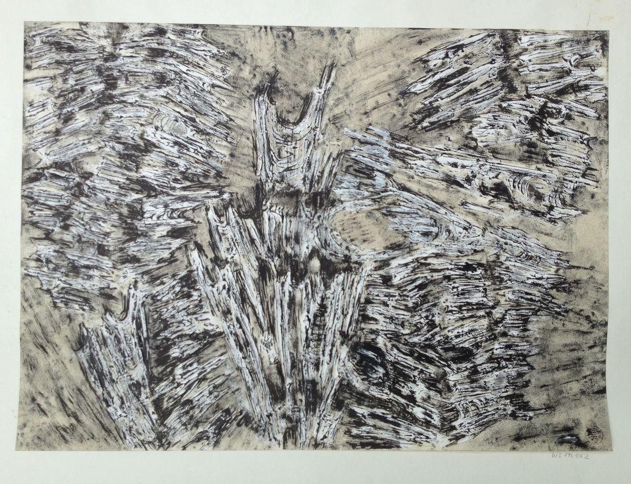 Ohne Titel, Mischtechnik auf Papier, 45 x 62 cm, 1961/1962 (#766)