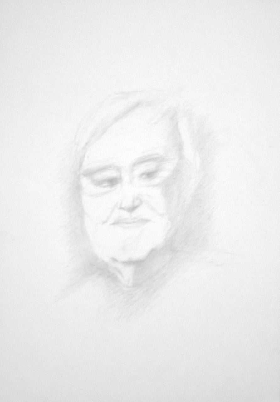 """Peter Härtling, """"Nichts was mich hält"""", 2017, Zeichnung, 40 x 30 cm (#900)"""
