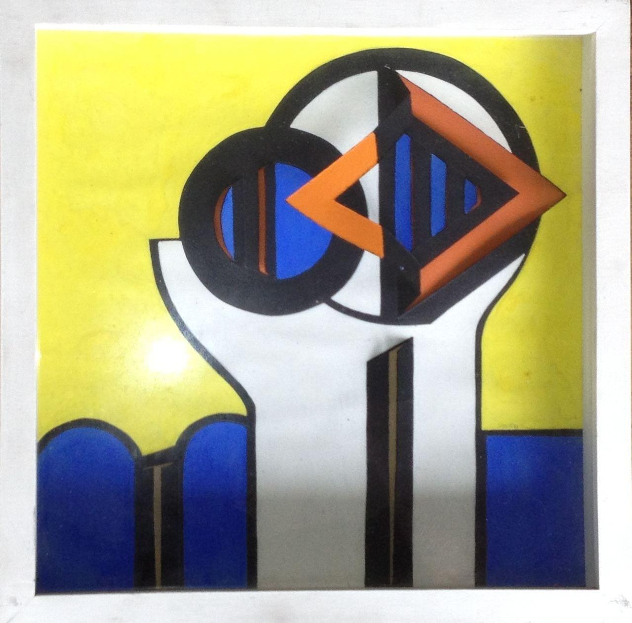 Raumschnitt, Collage, 30 x 30 x 5 cm, 1971 (#589)