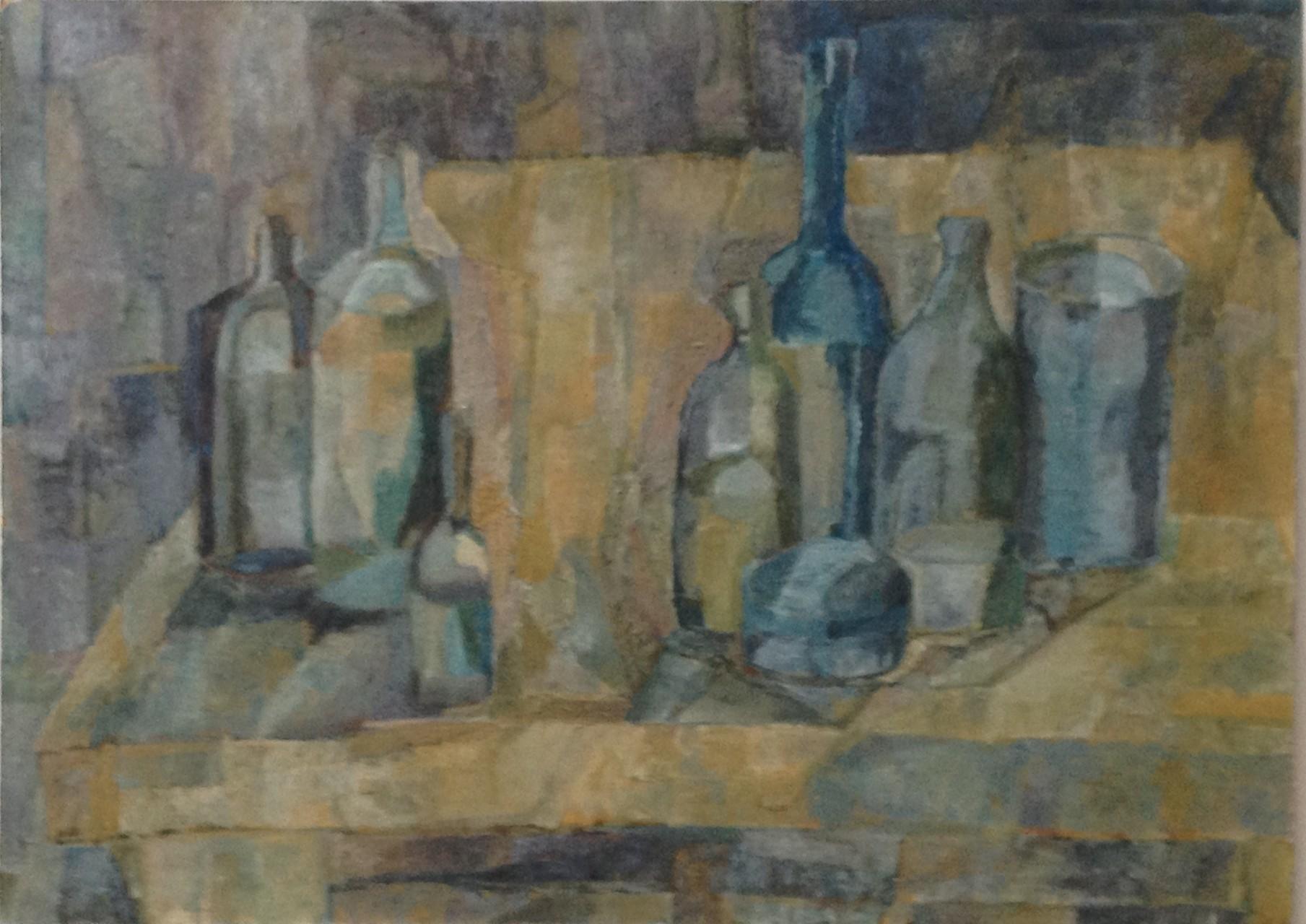 Stillleben,  Öl auf Hartfaser, 50 x 70 cm, 1960 (#610)
