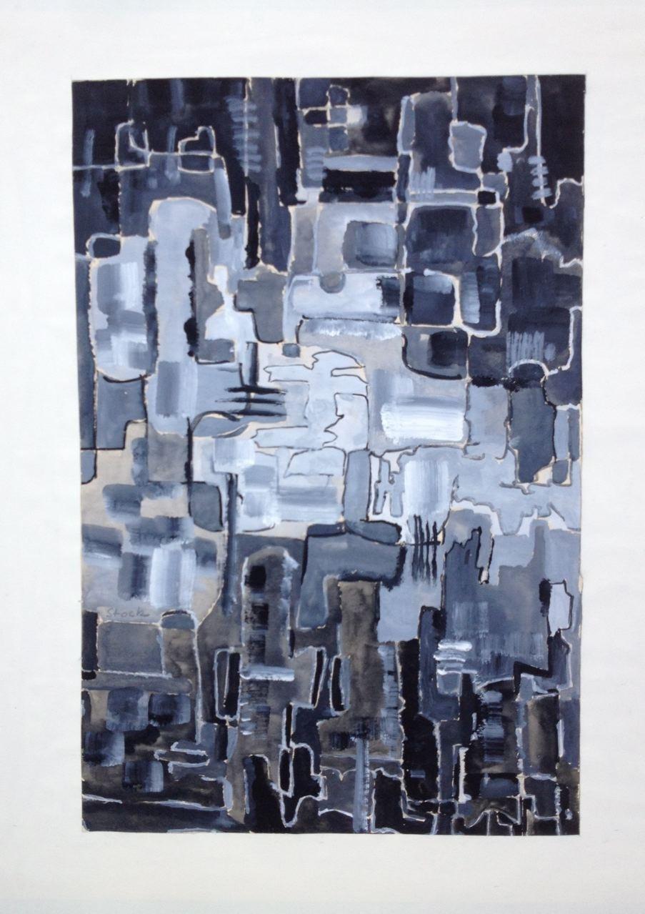 Studie  I,  Gouache, 35 x 24 cm, 1960 (#778)