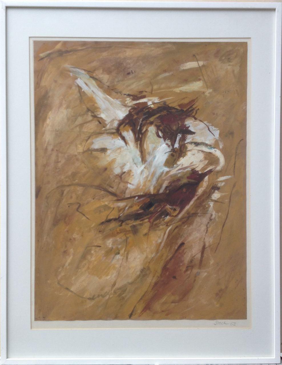 Ohne Titel, Gouache, 85 x 65 cm (mit Rahmen), 1963 (#613)