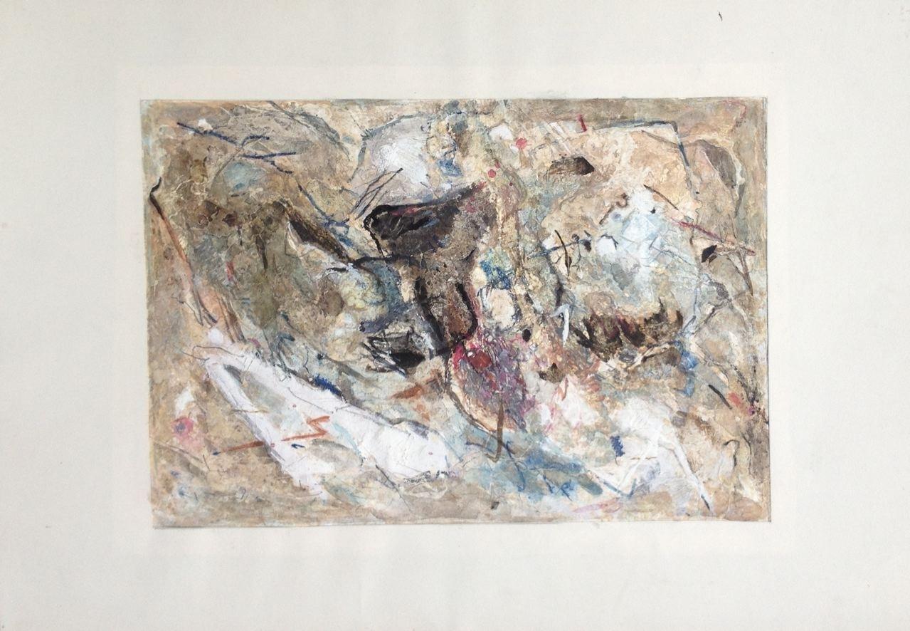 Ohne Titel, Gouache 24 x 33 cm, 1963 (#776)