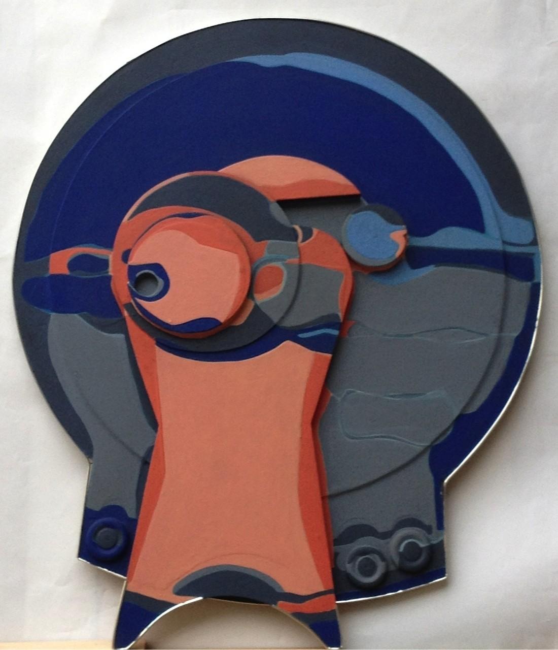 Keloid, Öl auf Pressspan, 92 x 76 x 5 cm, 1968 (#614)