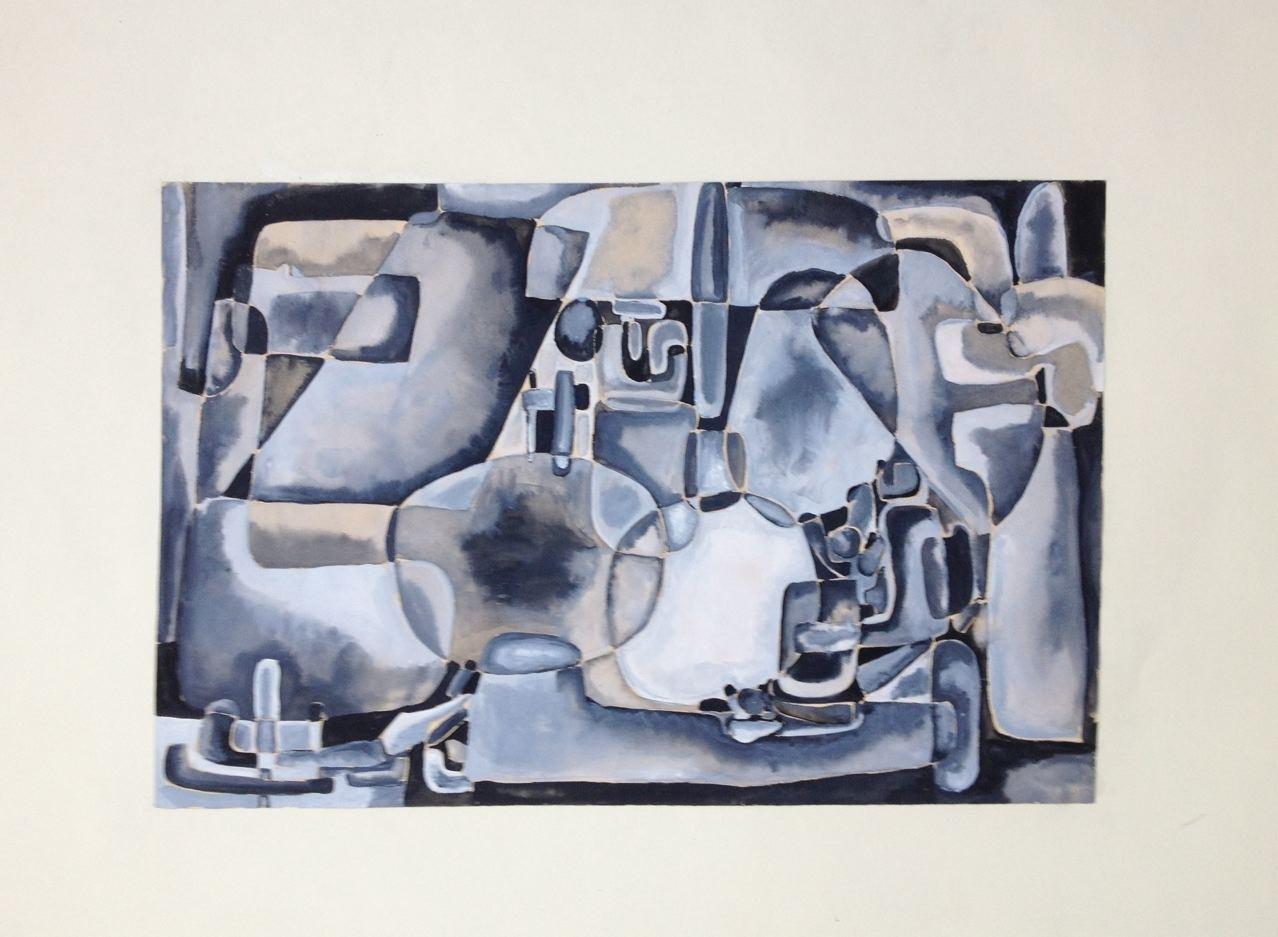 Studie  III, Gouache, 24 x 35 cm, 1960 (#780)