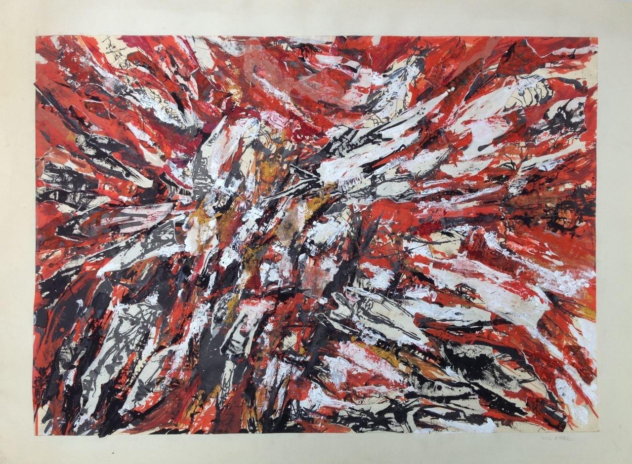 Ohne Titel, Collage, 55 x 75 cm, 1961 (#703)