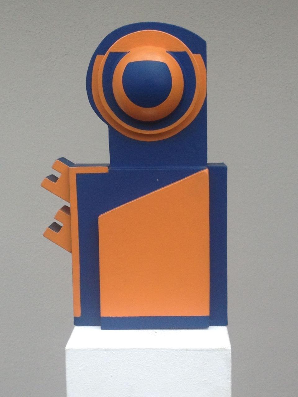 Kleinplastik, Holz/Lack, 43 x 25 x 14 cm, 1970 (#585)
