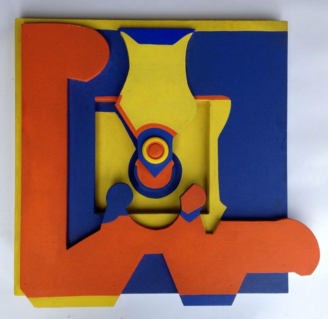 Coatlicue, Holzrelief, 60 x 60 x 8 cm, 1969 (#581)