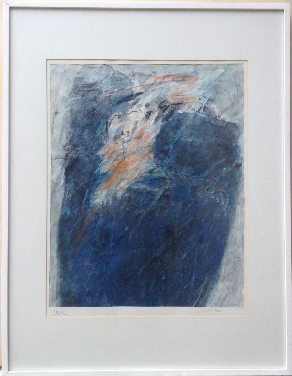 Ohne Titel, Gouache, 85 x 65 cm (mit Rahmen), 1965 (#612)
