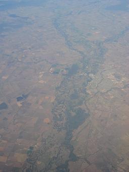 オーストラリアの農地(飛行機から)