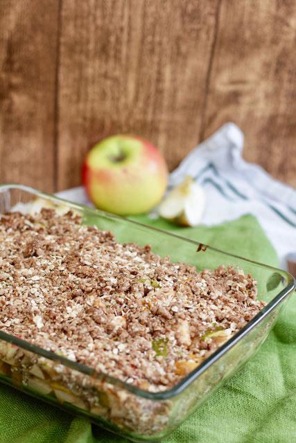Apple Crumble-glutenfrei, zuckerfrei, clean backen