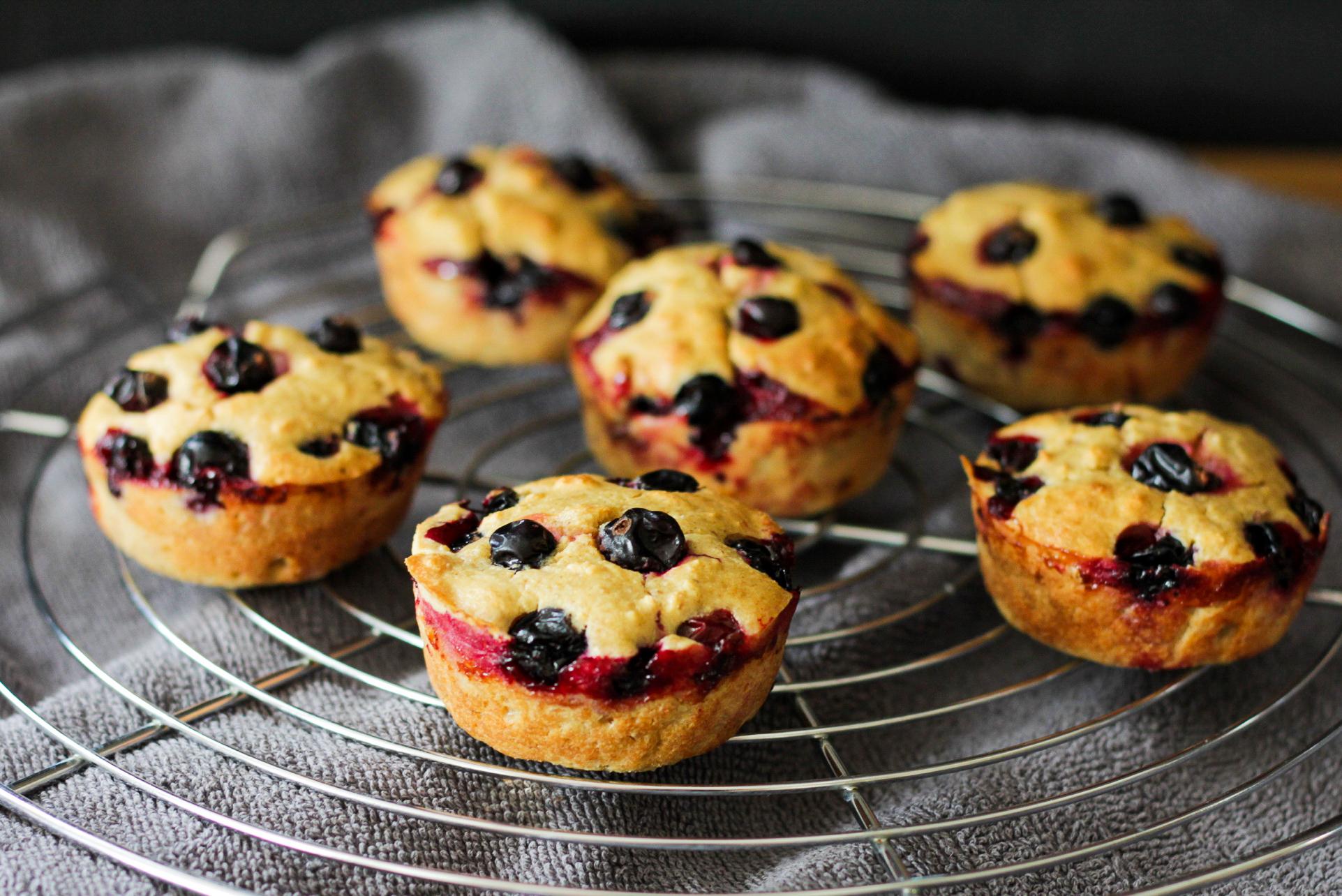 Beeren-Muffins glutenfrei, zuckerfrei