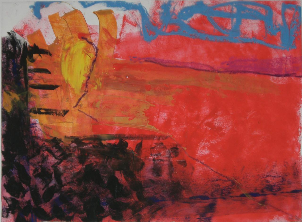 So war Meer 2007 Gouache und Ölkreide 100 x 70 cm