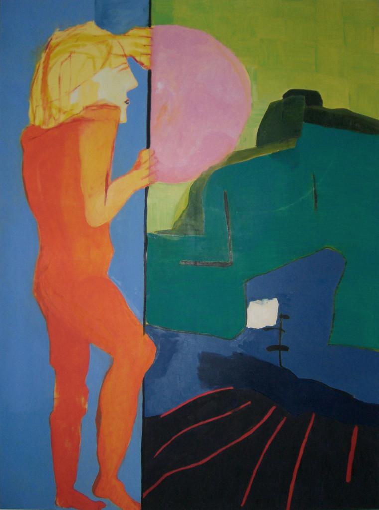 Blick hinüber 2007 Öl auf Leinwand 200 x 149 cm