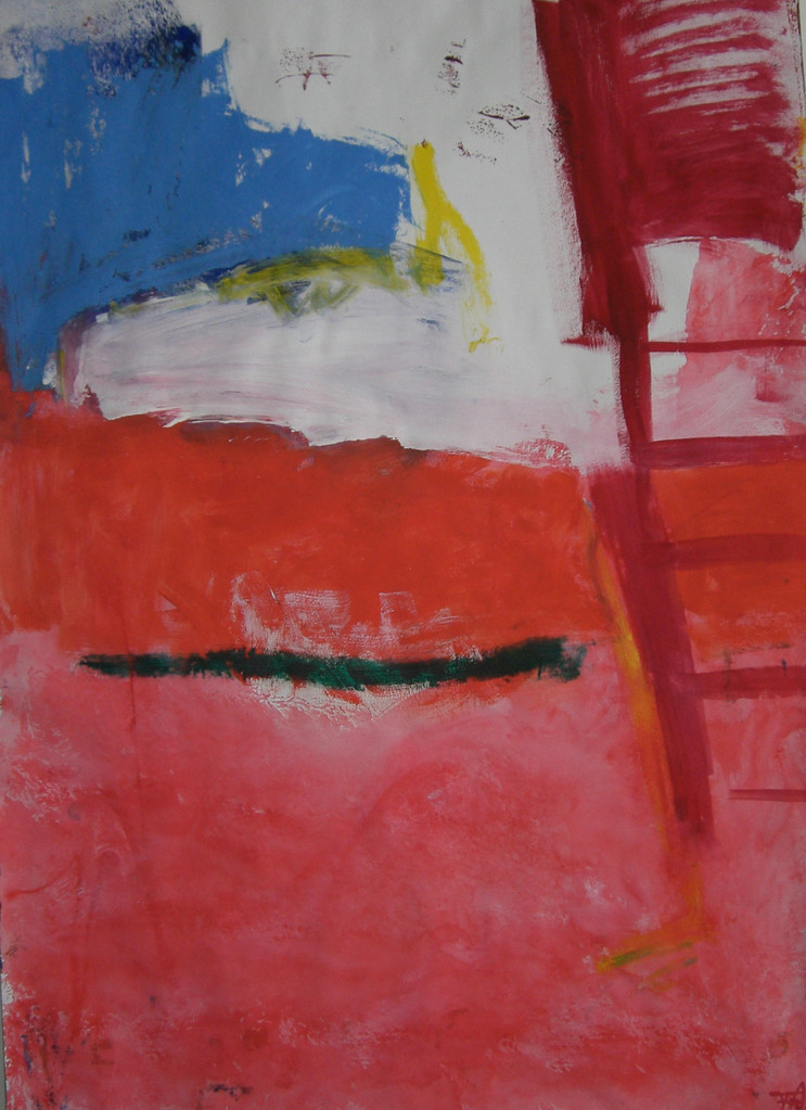 Meerblick 2007 Gouache auf Papier 70 x50 cm