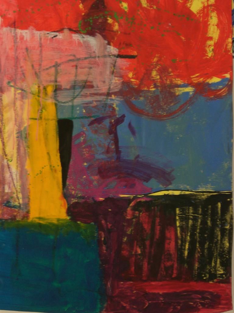 Requiem 2007 Gouache auf Papier 100 x 70 cm