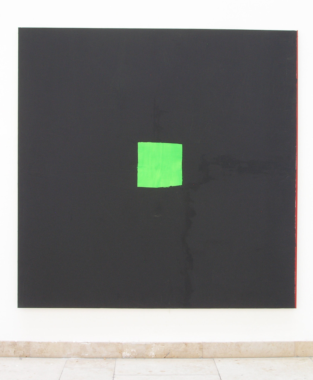 Das leere Quadrat oder das verlorene Leben der Jana B 2008 Öl auf Leinwand 200 x 200 cm