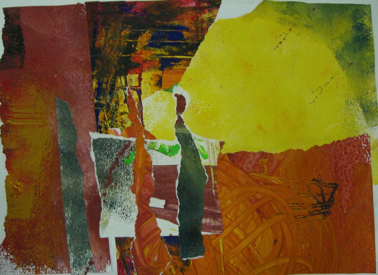 Drei Könige 2005 Collage 51, 5 x 69,5 cm