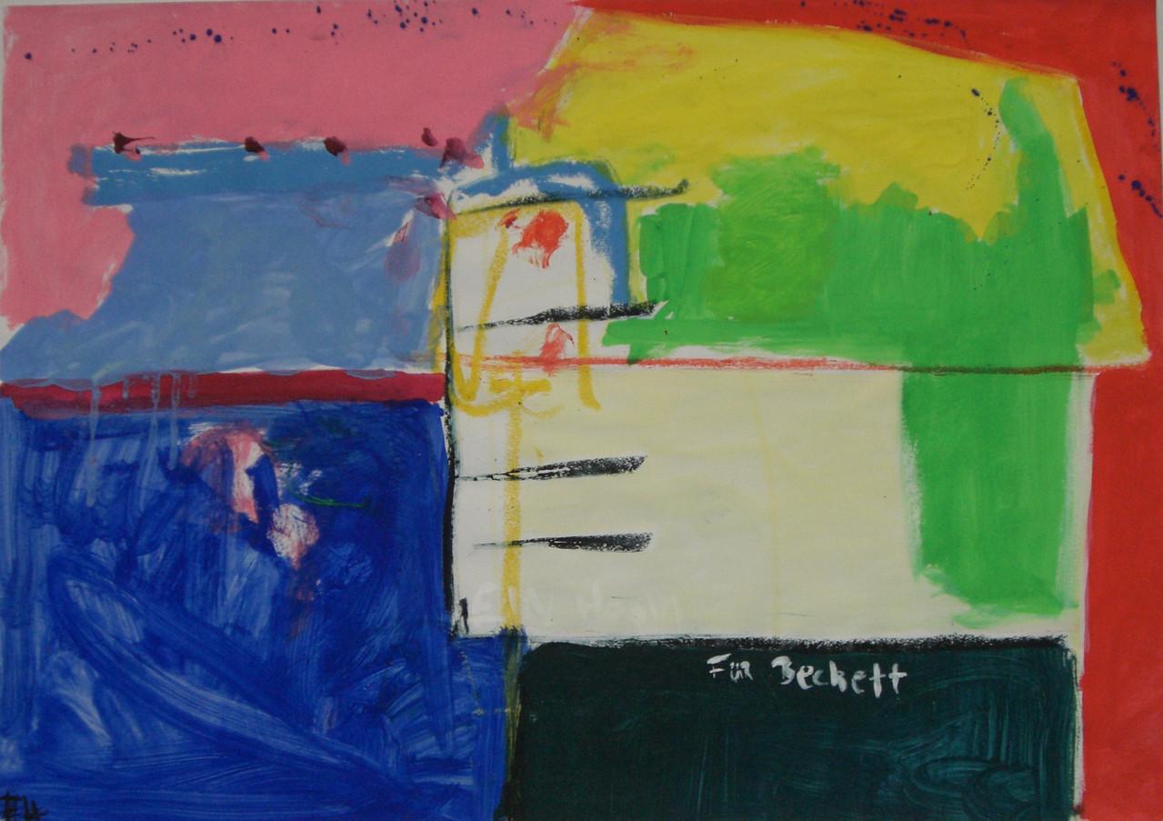 Für Beckett Gouache auf Papier 2006 59,5 x 83,5 cm