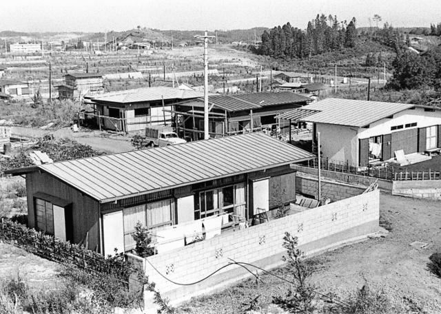 開発地域に住宅が建ちだしました。